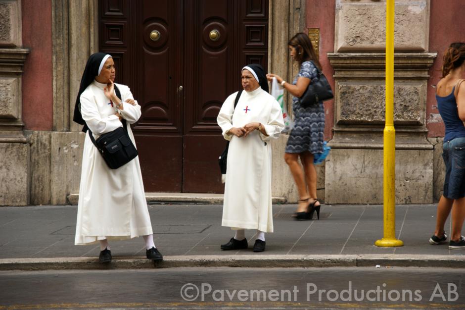 Bus stop nuns